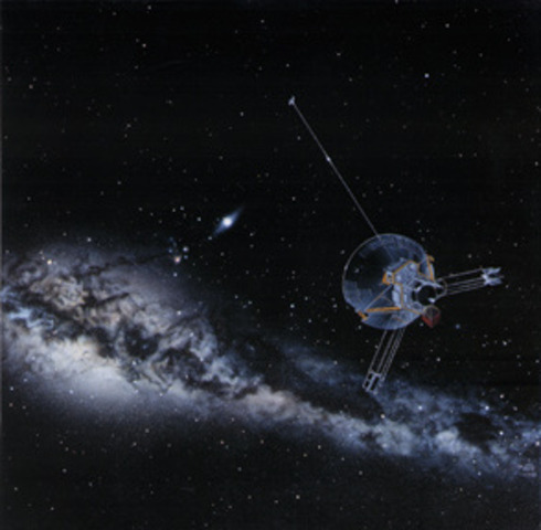 Pioneer 10 loses connection with NASA.