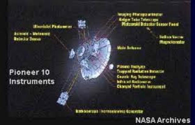 Pioneer 10 is designed by NASA