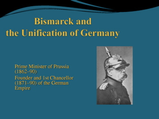 Bismarck's Unification of Germany