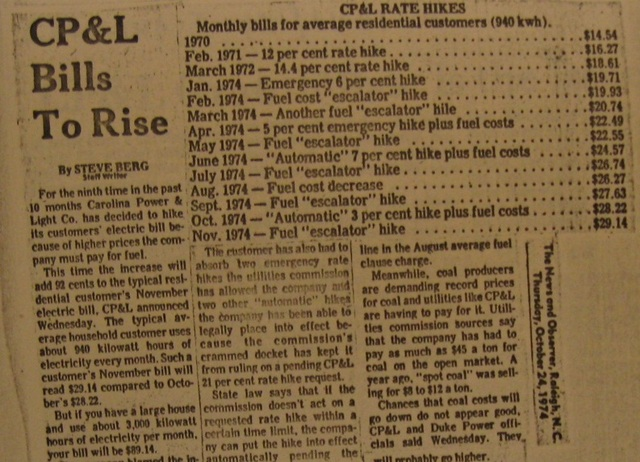 """CP&L Bills to Rise"""