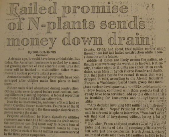"""Failed Promise of N-plants sends money down the drain"""