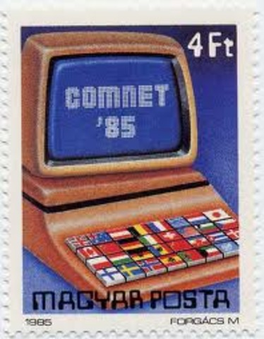 Hungary issues a stamp depicting the 3rd computer science conference COMNET