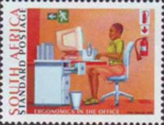 South Africa, Venezuela, Morocco, and Netherlands Antilles issue postage stamps depicting personal computer images