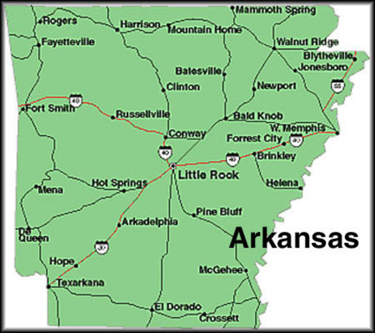 Arkansas The 25th state