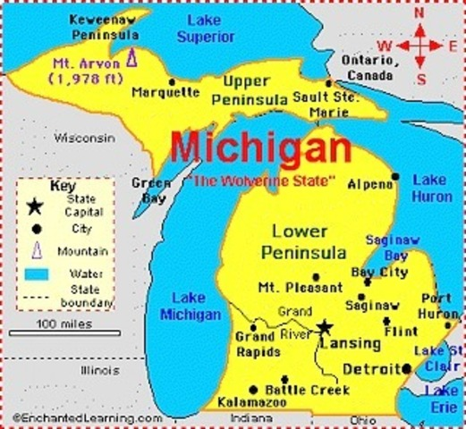 Michagan Becomes the 26th state