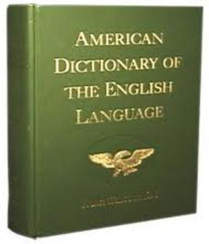 Publishing of Webster's Dictionary
