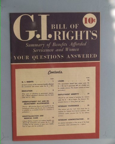 World Events: G.I. Bill of Rights