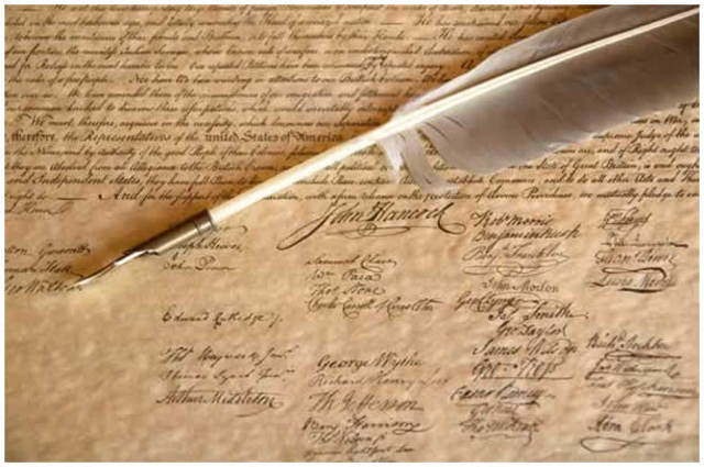 Decleration of Independence Signed