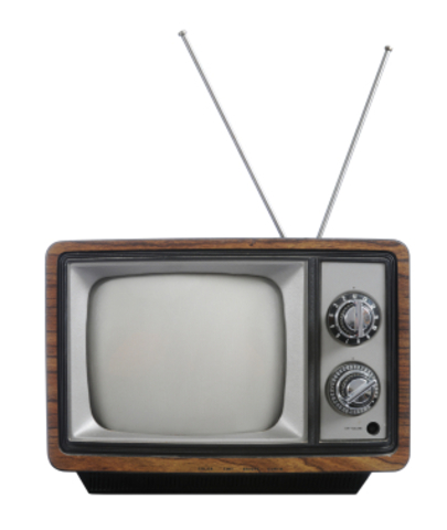 First scheduled T.V. programs broadcast