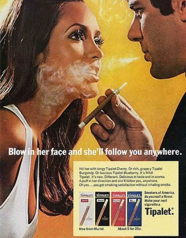Cigarette ads are banned from U.S. T.V.