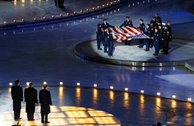 The Winter Olympics opened by George W. Bush