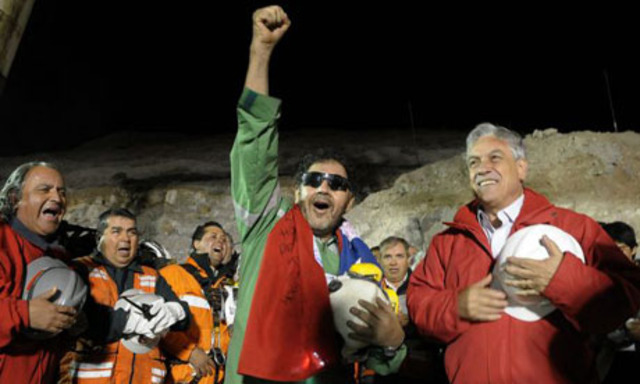 First of the 33 Chilean miners are rescued after 68 days