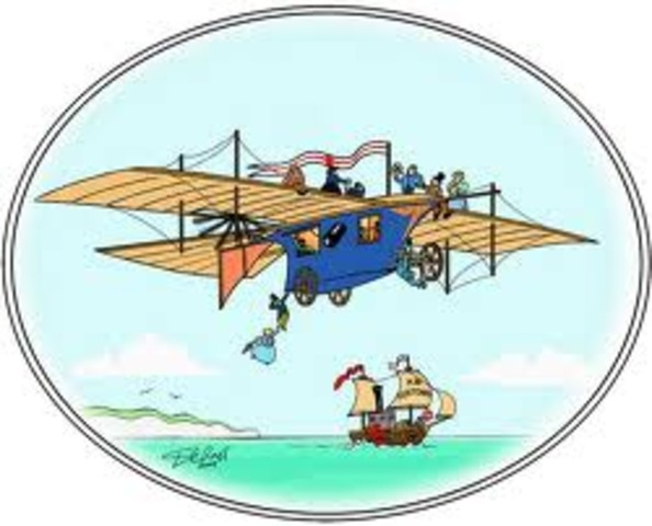 Design for aerial steam carriage is published.