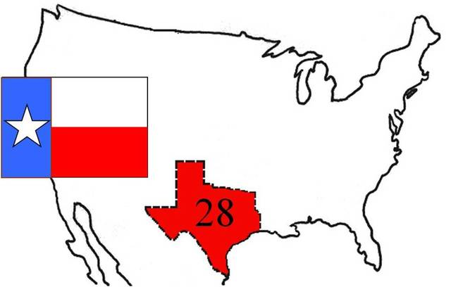 Texas 28th state