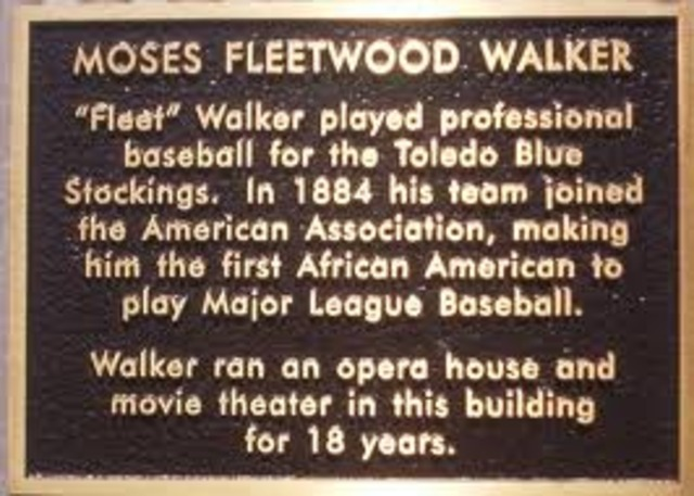 First African American in Baseball