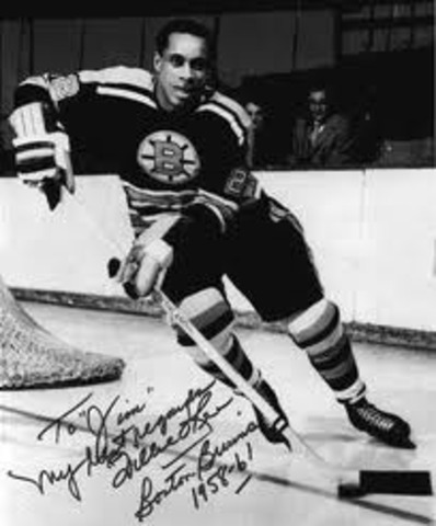 First African American in the NHL.