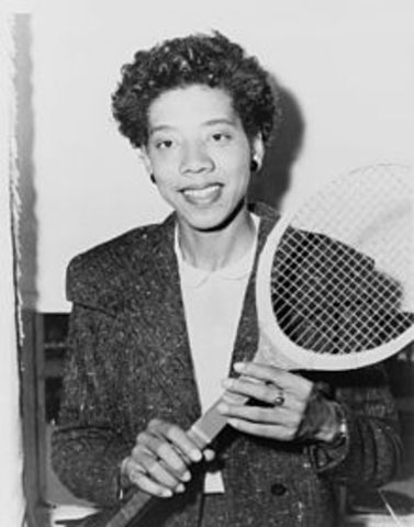 First African American woman to compete in Tennis World Tour