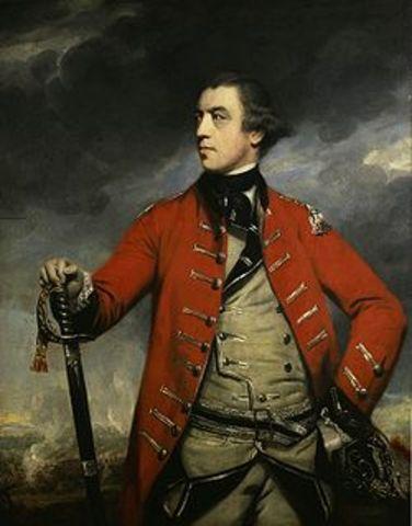 Burgoyne Surrenders at Saratoga, NY