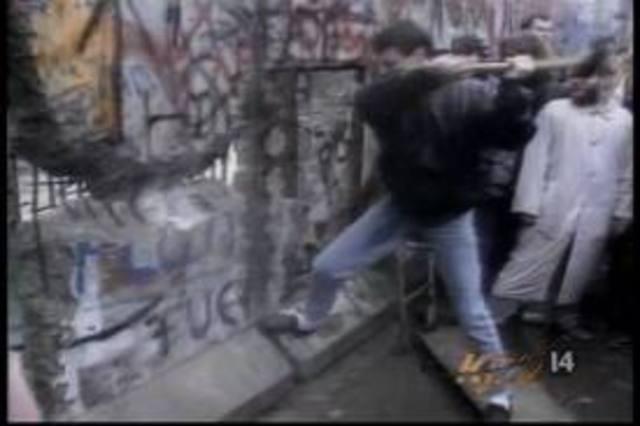 Berlin Wall is torn down