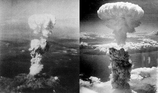 Dropping of atomic bombs