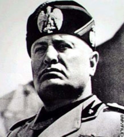 Benito Mussolini is made Italian Premier