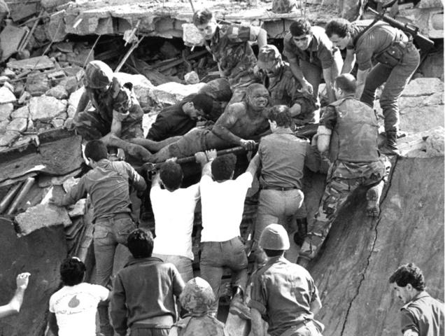 Reagan takes Marines out of Lebanon