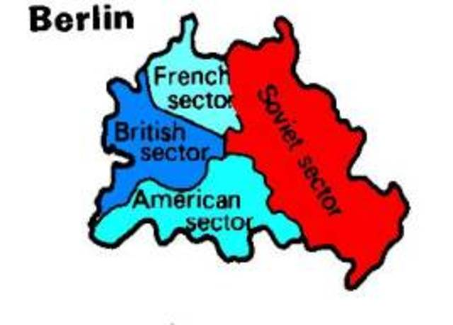 Britain, France, The United States, and The Soviet Union occupy Berlin