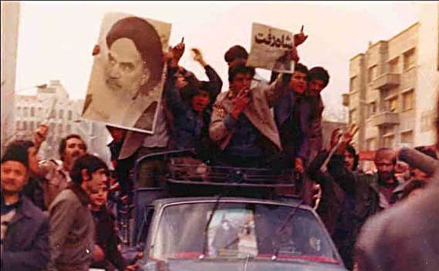 Tehran is Overrun  by Revolutionaries and the Shah Flees the Country