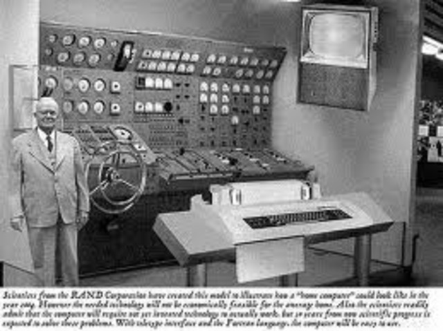 The first bank industry computer for reading checks