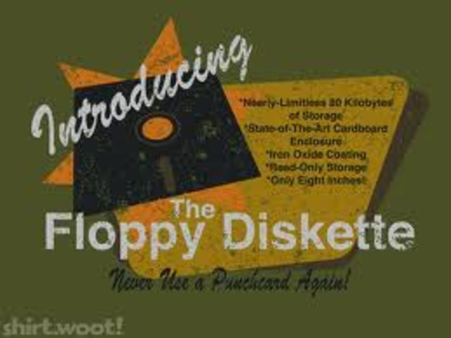 """The """"Floppy"""" disk was invented"""