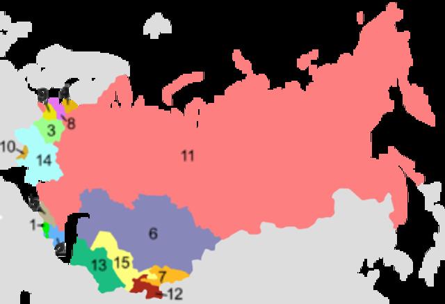 The Soviet Union dissolves