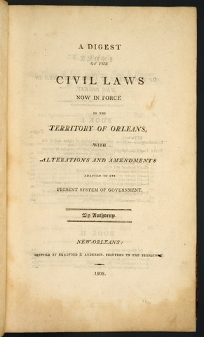 Introduction of the Civil Code (also known as Code Napoleon)
