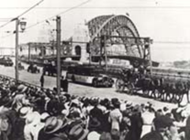 Opening of the Sydney Harbor Bridge