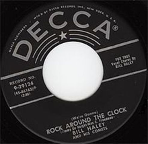'Rock Around the Clock' by Bill Haley and the Comets starts the rock'n roll era