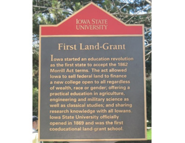 Iowa State - First Land Grant Institution