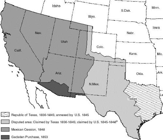 California (today) becomes a part of US territory!