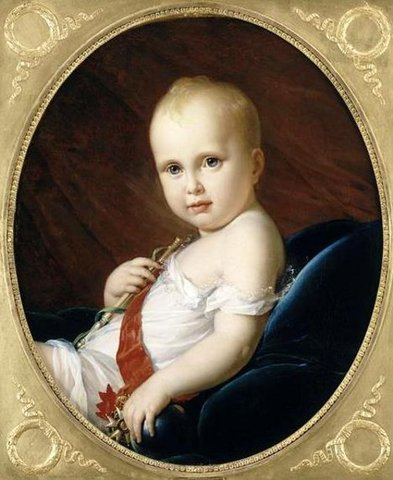 """Napoleon's son born, referred to as the """"King of Rome"""""""