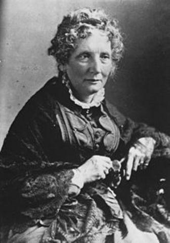 Harriet Beecher Stowe Writes Uncle Tom's Cabin
