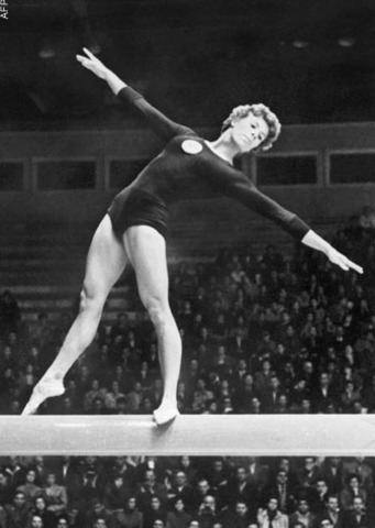 Soviet gymnast Larissa Latynina completes her Olympic career with 18 medals- more than any other athlete in Olympics history.