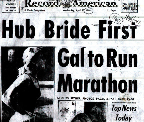 Bobbi Gibb becomes first woman to run and finish Boston Marathon. It's unofficial because women aren't allowed to enter until 1972.