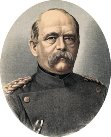 Otto Von Bismark becomes first prime minister of Prussia and Chancellor of the German Empire