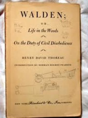 Thoreau writes Walden