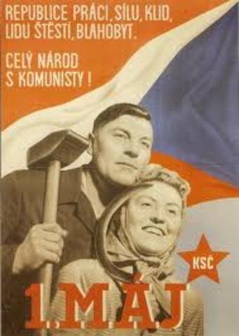 Communist take over in Czechoslovakia