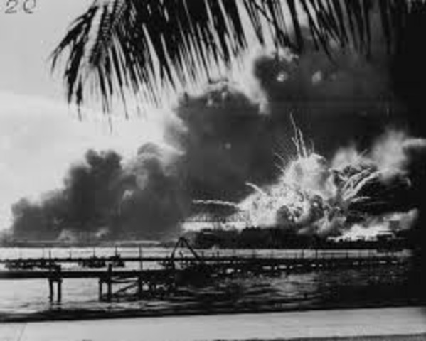 The bombing of Pearl Harbor/ US joins the war!