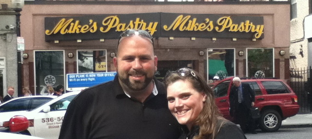 Tom gets out of the Boston Hospital! First Stop, Mike's Pastries!