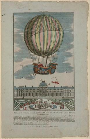First balloon flight: 1783