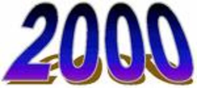 2000 ein neues Jahrhundert beginnt