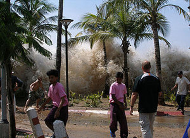 Tsunami in Asien und Afrika