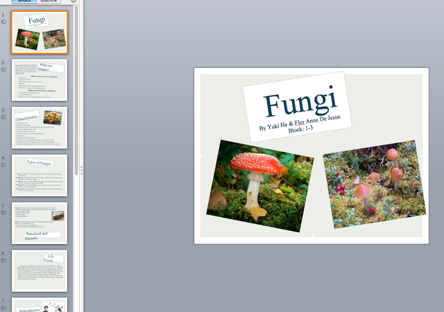 iPad Assignment on Kingdom Fungi