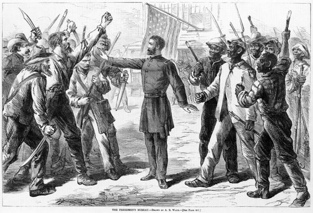 Congress establishes Freedmen's Bureau  to provide assistance to the emancipated slaves.